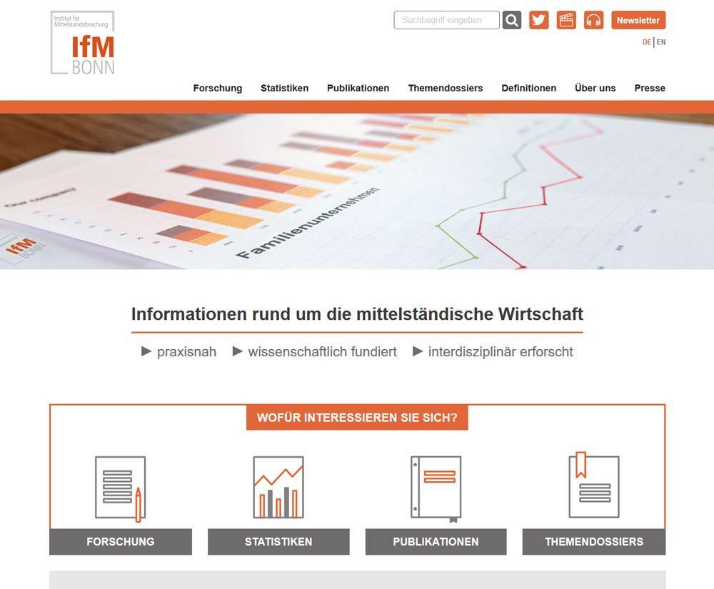 Neue Homepage des IFM Bonn